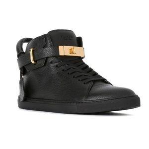 Buscemi Padlock Detail High Top Sneakers
